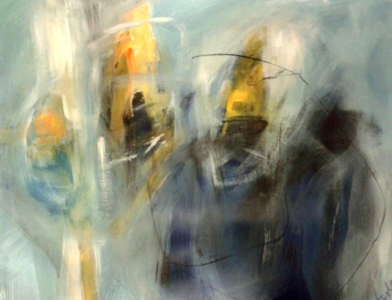La femme I., acrylici on canvas, 2016, 100x 70 cm